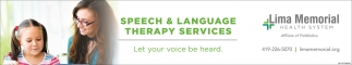 Speech & Language Therapy Services