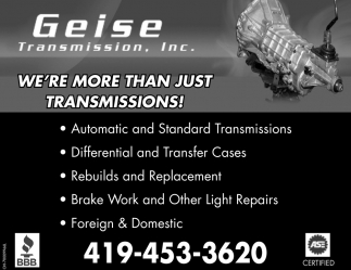 We're more than just transmissions!