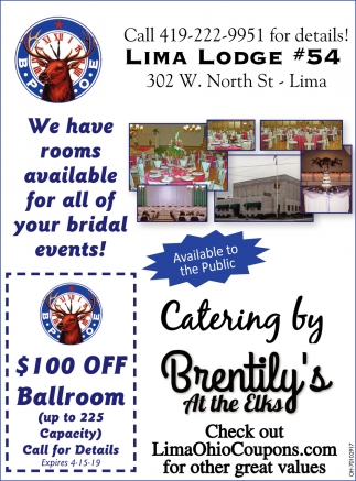 We have rooms available for all of your bridal events!