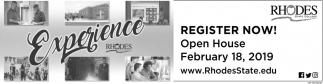 Register Now! Open House