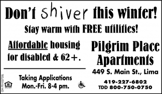 Stay warm with free utilities!