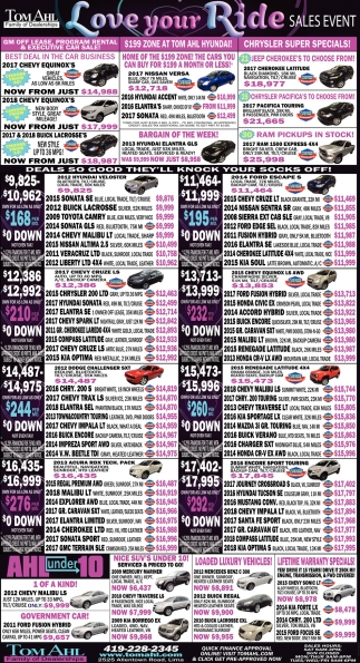Love Your Ride Sales Event