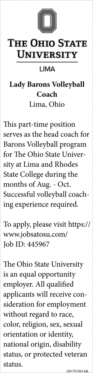 Lady Barons Volleyball Coach