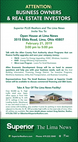Attention: Business owners & real estate investors