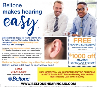 Beltone makes hearing easy