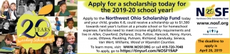 Apply for a scholarship for the 2019-2020 school year