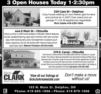 3 Open Houses - Delphos - Ottoville
