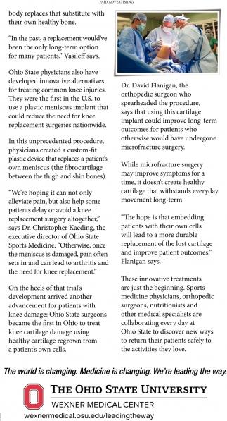 Ohio State Orthopedic Surgeons Pioneer