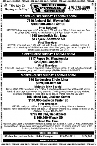 Open Houses - Waynesfield, Lima Wapakoneta, Jackson Center