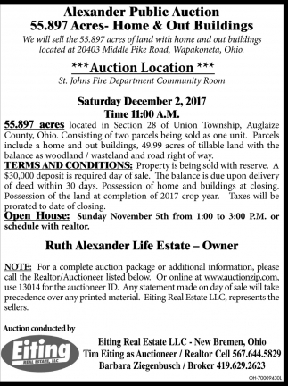 Alexander Public Auction