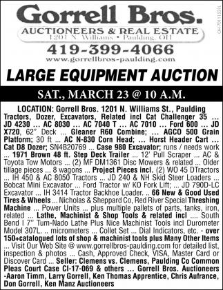 Large Equipment Auction