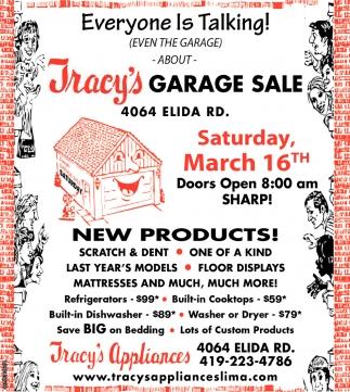 Garage Sale - March 16th