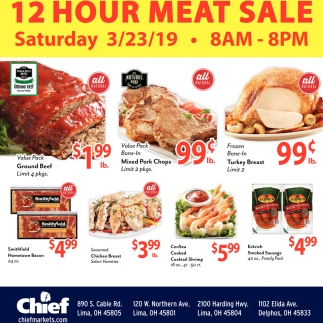 12 hour meat sale