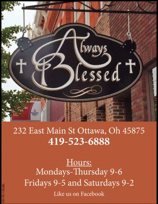 We are a Christian and family based gift store in Ottawa, Ohio
