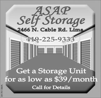 Geta a Storage Unit for as lo as $39 / month