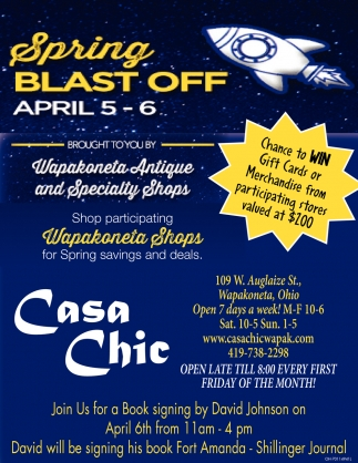 Spring Blast Off  - April 5 - 6