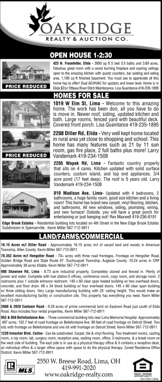 Open house, Homes for sale