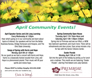 April Community Events!