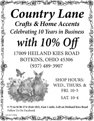 Celebrating 10 Years in Business with 10% Off