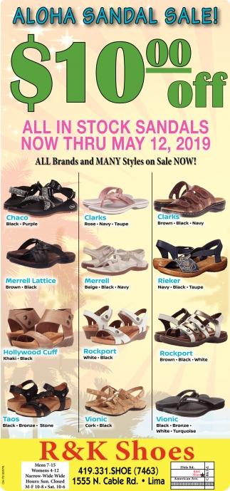 Aloha Sandal Sale! $10.00 off