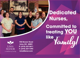 Dedicated Nurses, Committed you treating you like family!