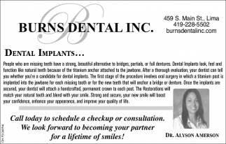 Dental Implants - Dr Alyson Amerson