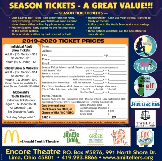 Season Tickets - A Great value!