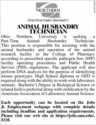 Animal Husbandry Technician