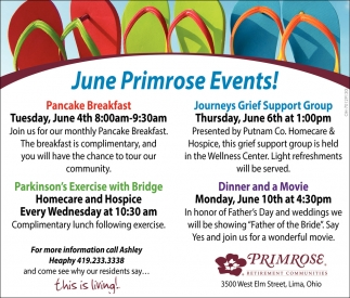 June Primrose Events!