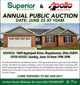 Annual Public Auction