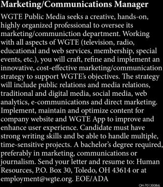 Marketing / Communications Manager