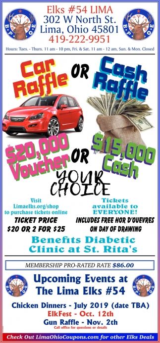 Car Raffle or Cash Raffle