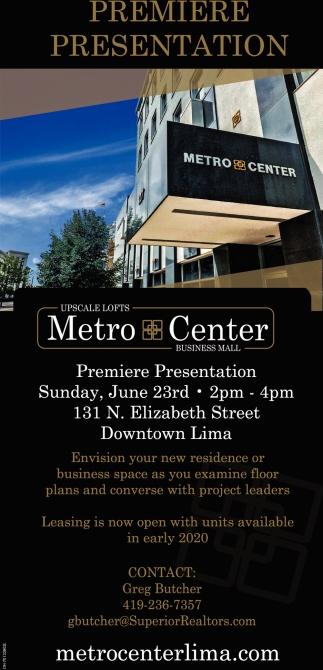 Premiere Presentation