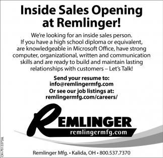 Inside Sales Opening At Temlinger Remlinger Fish Farm Kalida Oh