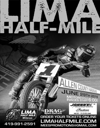 Professional flat track motorcycle race at Allen county Fairgrounds