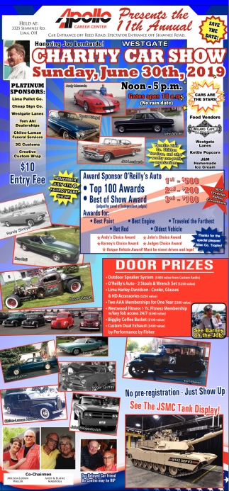 Charity Car Show, June 30th