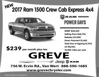 2017 Ram 1500 Crew Cab Express 4x4