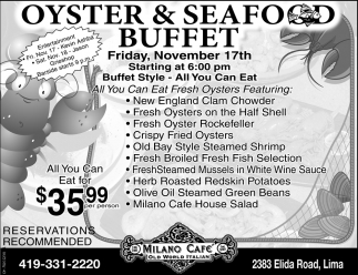 Oyster & Seafood Buffet