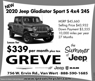 2020 Jeep Gladiator Sport S 4x4 24S