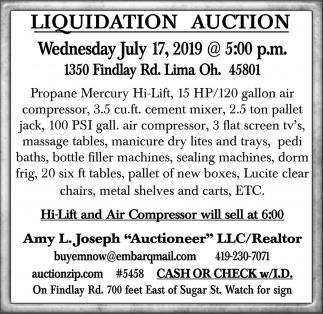 Liquidation Auction - July 17