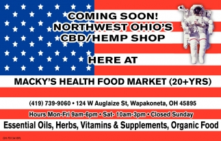 Coming soon! Northwest Ohio's CBD/Hemp Shop
