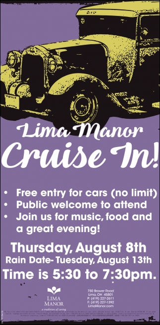 Lima Manor Cruise In! ~ August 18th