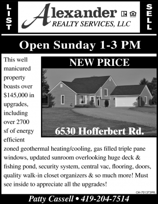 Open Hosue ~ 6530 Hofferbert Rd.