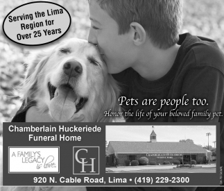 Pets are people too. Honor the life ofyour beloved family pet