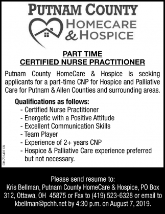 Certified Nurse Practitioner