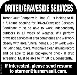Driver/Graveside Services
