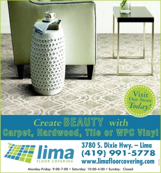Create Beauty with Carpet, Hardwood, Tile or WPC Vinyl