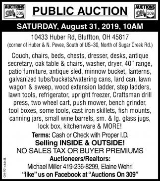 Public Auction August 31