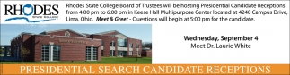 Presidential Search Candidate Receptions