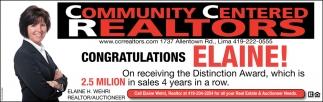 Congratulations Elaine!